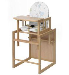 Geuther Высокий стул-трансформер Geuther Nico натуральный/белый с барашками  — 8260р.  Высокий стул NICO для кормления (натуральный)