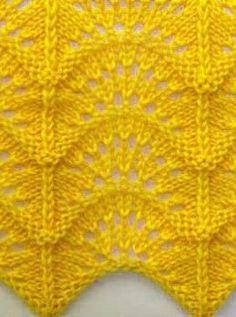 Wave pattern Plus - Dentelle diy couture Lace Knitting Stitches, Lace Knitting Patterns, Knitting Charts, Lace Patterns, Knitting Designs, Free Knitting, Stitch Patterns, Loom Knitting, Beginner Knitting