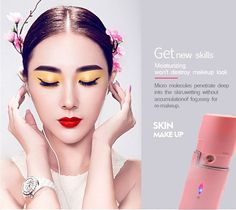 Portable magic mist facial steamer nano spray water repellent #Living Water, #Cleanses
