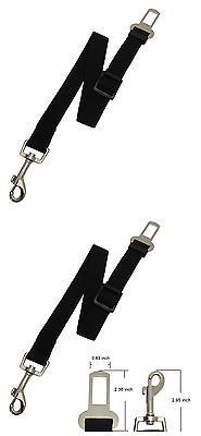 Dog Safety Seat Belt-2 Pack-adjustable and Durable- Nylon Strap-safe harness