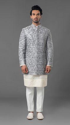 ad4fbbe7261 Classical zardosi indowestern sherwani with qurta.To order whatsapp-  91-8888328116, ethnicdia@gmail.com