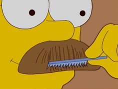 simpsons: hiddely diddly daddly mustache combereno