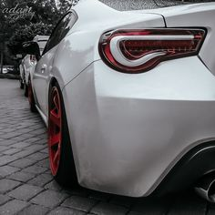 """2013 Scion FR-S with """"CR"""" VALENTI RED & WHITE INSET LED Tail light"""