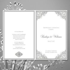 This printable order of service template is available in a number of colors. Easy to create .... All wedding program text is editable by you within Word. 5.5 x