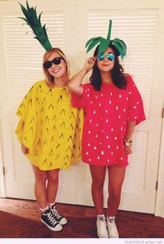 Halloween pineapple and strawberry costume