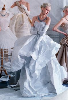 Esmeralda Seay-Reynolds in Charles James Haute Couture  by Tim Walker for Vogue May 2014