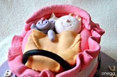 Tarta cochecito de bebé (fondant)