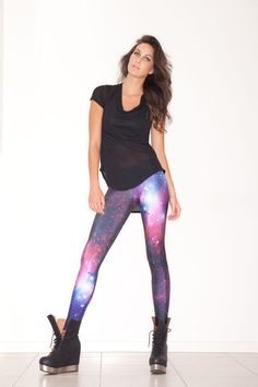 Like leggings?? Black Milk Clothing has the MOST jaw-dropping options. This is the Galaxy print. Literally, out of this world. Nasa photo inspired, for reals!