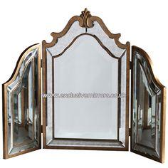 Gold Framed Dressing Table Mirror 87 x 66cm