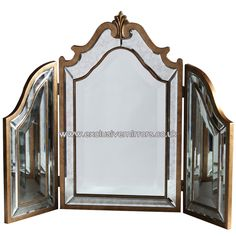 Gold Framed Dressing Table Mirror 87 x 66cm