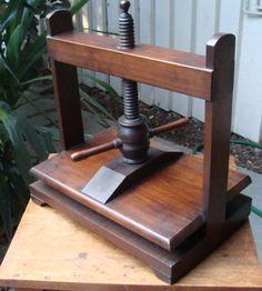 19th C English tabletop mahogany book press