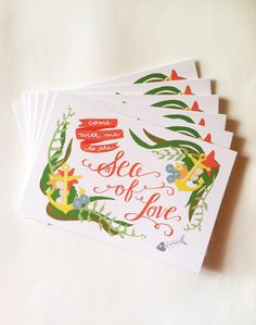 Gorgeous cards crafted and designed by Ann, an illustrator/designer in LA.  LOVELY!