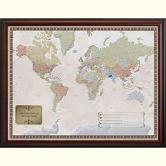 Personalized World Travel Map from MapYourTravels.com. A great way display your latest travels, favorite places, and dream locations.