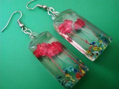 Natural Dry Flower Earrings