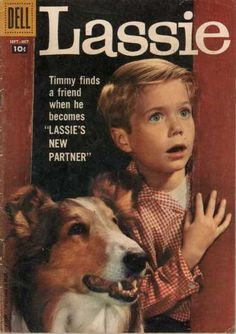 Timmy - Dog - Blue Eyes - Checkered Shirt - Blonde HairI don't remember the books, just the TV show. Dad encouraged us to watch this - he must have liked it too!