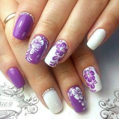 and Beautiful Nail Art Designs New Nail Designs, Nail Designs Spring, Spring Nail Art, Spring Nails, Floral Nail Art, Latest Nail Art, Manicure E Pedicure, Super Nails, Flower Nails