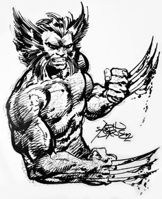 Wolverine sketch by John Byrne. 1992.