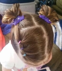 Such an easy and adorable hair style for a little girl.