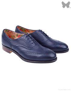 Cheaney Ladies' Maisie Brogues - Dark Blue - Ladies' Footwear - Ladies | Country Attire