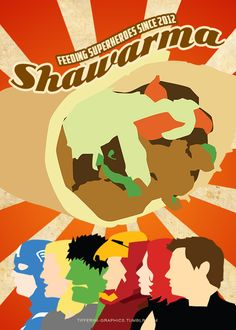 Minimalist Avengers Posters - Schawarma by tifferini-graphics.tumblr