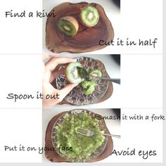 Your skin needs a vitamine boost in winter, and actually all over the year, just like your immunity system. If you don't like to go to a clinic or beauty center, try this at home. Smash a kiwi and put it on your face. Wait and rinse off with water. You will feel the kiwi pinching, this means your skin is absorbing it. Avoid your eyes and eyes area from the extract.