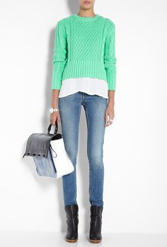 Acne Lia Jumper, styled here with a simple white shirt and jeans