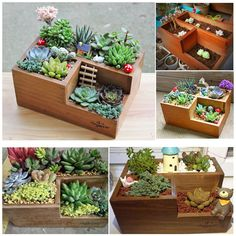 Cheap desktop organizer, Buy Quality organizer container directly from China wooden desktop organizer Suppliers: new Multi-function Retro wooden Flowerpot Potted plant container desktop organizer relics decor phone Office collect holder