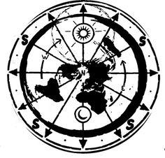 Flat earth Tattoo