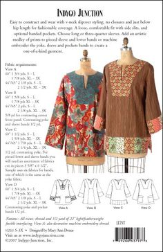 Tribeca Tunic – IJ797 sewing pattern from IndygoJunction.com