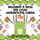 FREEBIE!!! These sequencing cards are a great visual aid for children who are just beginning to learn about the life cycles of a butterfly and frog. Perfect for K-2!