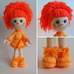 девочка-солнышко - Игрушки - Галерея - Форум почитателей амигуруми (вязаной игрушки)