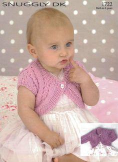 Knit Baby Toddler Child Bolero Cardigan by VintagePatternPDF