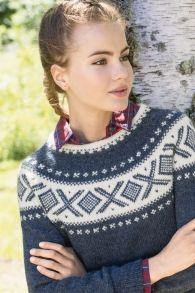 no - dale-cortina-genser-indigo-dame Indigo, Crochet Necklace, Hobbies, Mindfulness, Knitting, Diy, Fashion, Crocheting, Moda