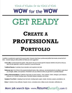 job search get ready create a professional job search portfolio wwwresumebutterflycom