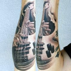 Image result for bass guitar tattoo