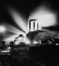 """J & L steel works on the south side ABLAZE with light!!! photo 1946....click through for more GREAT """"pittsburgh by night"""" black and white pics!!! The Digs: Pittsburgh Post-Gazette......."""
