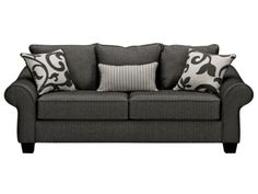 Colette Grey Sofa - Classic and gender neutral. Also a great basic that can be paired with a pop of color to make it fit your space.