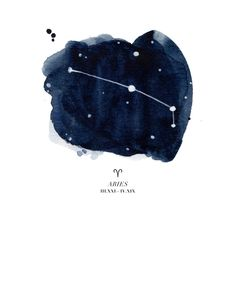 Zodiac Constellation - Aries Art Print