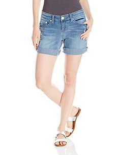 Seven7 Women's 5 Inch Relaxed Short with Light Deconstruction and S Back Pockets, Fore Runner, 10 ** Read more @ http://www.amazon.com/gp/product/B00ULL4LR6/?tag=clothing8888-20&pef=120816090421