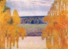Autumn Song, 1905 - Victor Borisov-Musatov - WikiArt.org