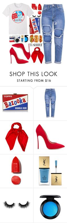 """Dress Up a T-Shirt"" by queenvirgo ❤ liked on Polyvore featuring Anya Hindmarch, Louis Vuitton, Casadei, NARS Cosmetics, Moncler, Yves Saint Laurent, Artémes, MAC Cosmetics and MyFaveTshirt"