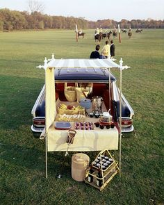 lostpastremembered: Tailgate Polo Party, Hazelnut Biscuits with Deviled Ham and The 21 Club's Pomegranate Cider