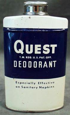 Old Quest Powder Deodorant Advertising Tin
