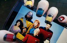Star Trek: TNG uniform nail art #StarTrek #StarTrek:TNG #nailart #geeknails #nerdnails