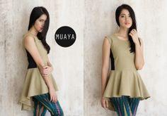 NICKY ASYMMETRICAL GREEN - muaya clothing - #fashion #womensfashion #womenswear