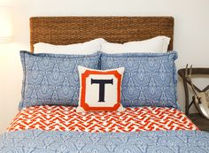 Gorgeous personalized Jonathan Adler custom needlepoint pillows. #nursery