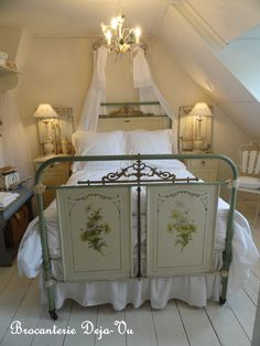 One off the bedrooms upstairs in our shop.
