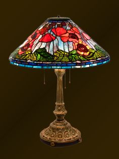 Tiffany Odyssey stained glass lamps and custom designs. Tiffany Table Lamps, Bedside Table Lamps, Desk Lamp, Tiffany Stained Glass, Stained Glass Lamps, Lampe Art Deco, Spectrum Glass, Deco Originale, Jar Lamp