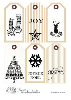 Free to Print 6 tags Christmas Christmas Gingerbread, Noel Christmas, All Things Christmas, Vintage Christmas, Christmas Crafts, Christmas Decorations, Card Sentiments, Gift Tags Printable, Christmas Gift Tags
