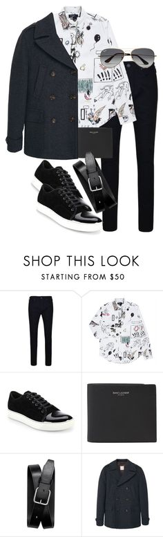 """""""Untitled #1783"""" by itsmeischoice on Polyvore featuring True Religion, Paul Smith, Lanvin, Yves Saint Laurent, Banana Republic, MANGO MAN, Ray-Ban, mens, men and men's wear"""